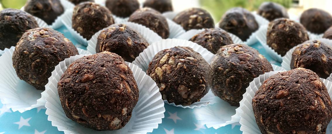 כדורי שוקולד מריר עם פצפוצי אורז