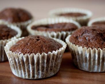 קאפקייקס שוקולד נוטלה משלושה מרכיבים