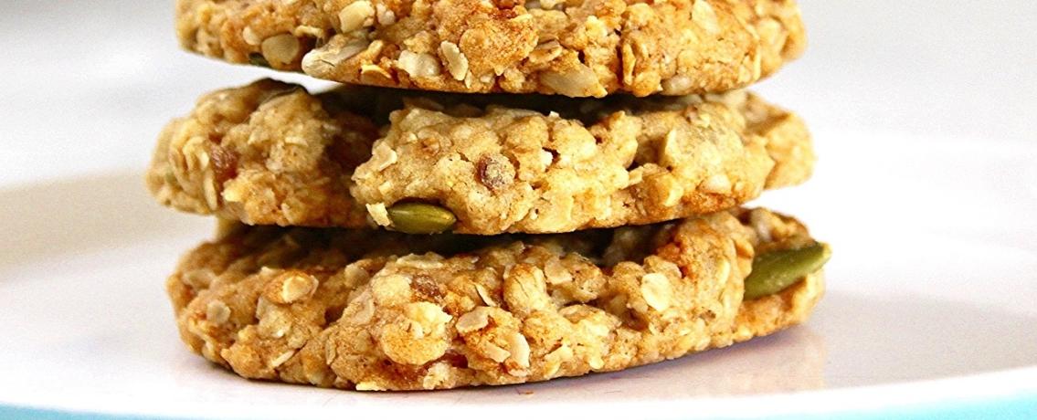 עוגיות פטנט בריאות של שיבולת שועל ובננה
