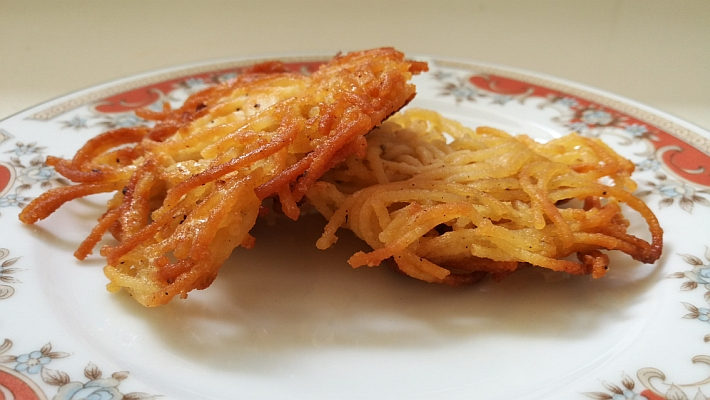 לביבות ספגטי ופרמזן