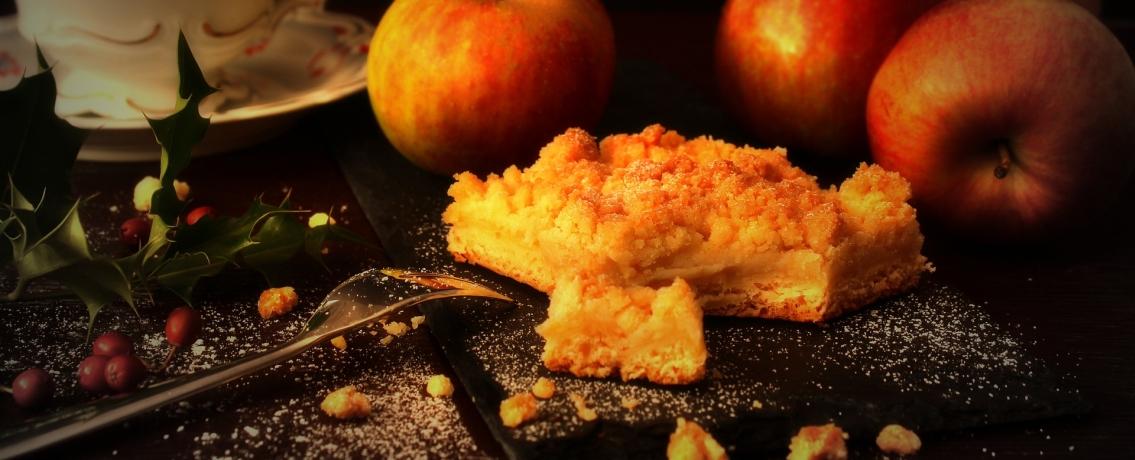 שטרויזל תפוחים עם בצק פריך